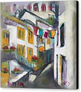 Village Corner Canvas Print by Becky Kim