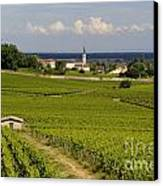 Village Of Aloxe Corton. Cote D'or. Burgundy. France Canvas Print