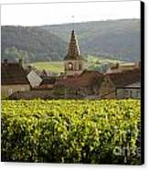 Village Of Monthelie. Burgundy. France Canvas Print