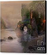 Villages By The Foggy Sea   Canvas Print