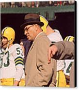 Vince Lombardi In Trench Coat Canvas Print