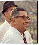 Vince Lombardi Surveying The Field Canvas Print by Retro Images Archive