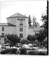 Vineyard Creek Hyatt Hotel Santa Rosa California 5d25866 Bw Canvas Print