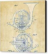 Vintage 1914 French Horn Patent Artwork Canvas Print
