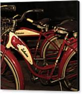 Vintage 1941 Boys And 1946 Girls Bicycle 5d25760 Sepia2 Canvas Print