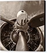 Vintage B-17 Canvas Print by Adam Romanowicz