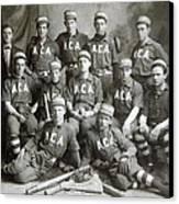 Vintage Baseball Team Canvas Print