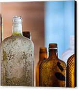 Vintage Bottles Canvas Print by Adam Romanowicz