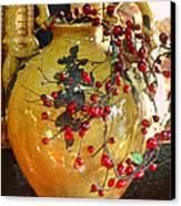 Vintage Ceramic Urn Canvas Print by Linda Phelps