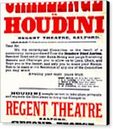 Vintage Challenge Houdini Poster Canvas Print