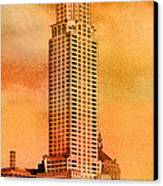 Vintage Chrysler Building Canvas Print by Andrew Fare