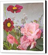 Vintage Cottage Garden Canvas Print by Tanya Jacobson-Smith
