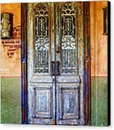vintage door in Hico TX Canvas Print by Elena Nosyreva