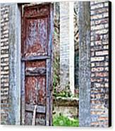 Vintage Doorway Canvas Print by Susan Schmitz