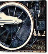 Vintage Drive Wheel Canvas Print by Olivier Le Queinec