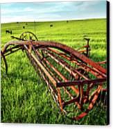 Vintage Farm Equipment I - Blue Ridge Canvas Print by Dan Carmichael