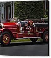 Vintage Firetruck Canvas Print by Susan Candelario