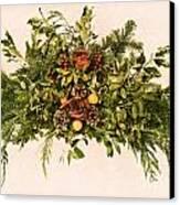 Vintage Floral Arrangement Canvas Print
