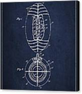 Vintage Football Patent Drawing From 1923 Canvas Print