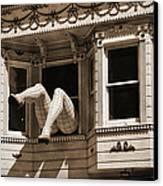 Vintage Haight And Ashbury San Francisco Canvas Print by RicardMN Photography