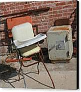 Vintage Highchair Canvas Print by Paulette Maffucci