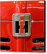 Vintage International Harvester Tractor Badge Canvas Print