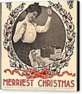Vintage Kodak Christmas Card Canvas Print