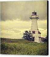 Vintage Lighthouse Pei Canvas Print by Edward Fielding