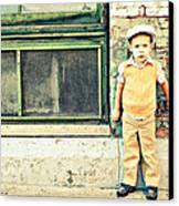 Vintage Little Boy Canvas Print by Stephanie Grooms