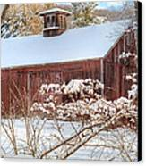 Vintage New England Barn Canvas Print by Bill Wakeley