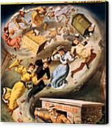 Vintage Nostalgic Poster - 8040 Canvas Print