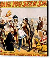 Vintage Nostalgic Poster - 8046 Canvas Print by Wingsdomain Art and Photography