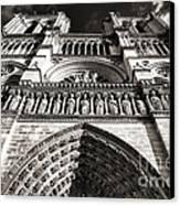 Vintage Notre Dame Canvas Print by John Rizzuto
