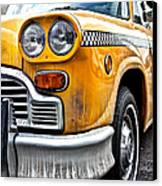 Vintage Nyc Taxi Canvas Print by John Farnan