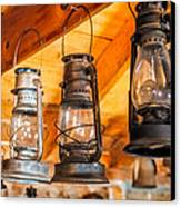 Vintage Oil Lanterns Canvas Print by Paul Freidlund