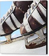 Vintage Pair Of Mens  Skates  Canvas Print by Mikhail Olykaynen