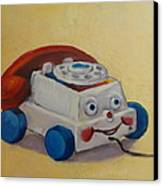 Vintage Pull Toy Series Phone Canvas Print by Kelley Smith