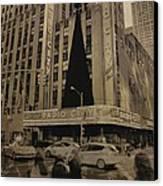 Vintage Radio City Music Hall Canvas Print by Dan Sproul