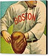 Vintage Red Sox Canvas Print by Benjamin Yeager