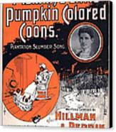 Vintage Sheet Music Cover Circa 1896 Canvas Print by M Witmmark and Sons
