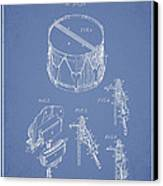 Vintage Snare Drum Patent Drawing From 1889 - Light Blue Canvas Print by Aged Pixel