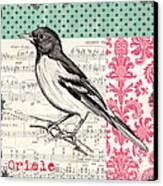 Vintage Songbird 2 Canvas Print by Debbie DeWitt