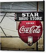 Vintage Star Drug Store Canvas Print by Perry Webster