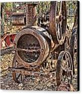 Vintage Steam Tractor Canvas Print by Douglas Barnard