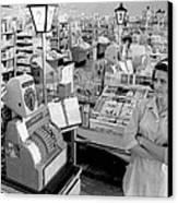 Vintage Supermarket Vintage #04 Fine Art Print Canvas Print by Retro Images Archive