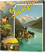 Vintage Tourism Poster 1890 Canvas Print by Mountain Dreams