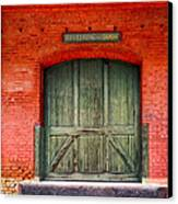 Vintage Train Depot Receiving Door - Augusta Canvas Print by Mark E Tisdale