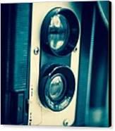 Vintage Twin Lens Reflex Camera Canvas Print by Edward Fielding