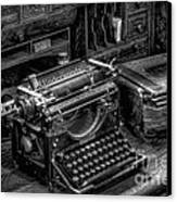 Vintage Typewriter Canvas Print by Adrian Evans