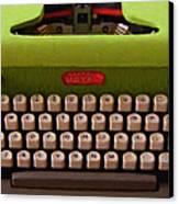 Vintage Typewriter - Painterly Canvas Print by Wingsdomain Art and Photography